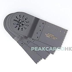 Pack of 4 Precision Double-row Japan Teeth E-Cut Saw Blades Oscillating Flush Wood Plastic - Universal Oscillating Dremel Rockwell Fein Makita