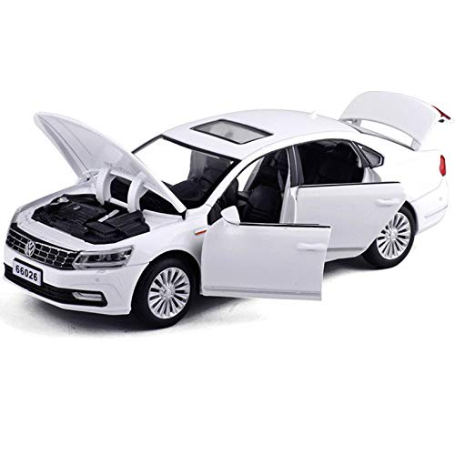 Diecasts Toy Vehicles Simulation Vehicle Model Alloy Pull Back Four S Door Toy Car Collection Gift Children's Toys Kids (Vw Jetta Toy)
