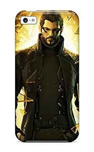 Durable Deus Ex Human Revolution Game Back Case/cover For Iphone 5c