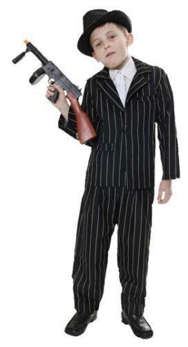 Henbrandt 1920S Pinstripe Gangster Child Costume Mafia Boys Book Week Fancy Dress (10-12 (Book Week Costumes For Boys)