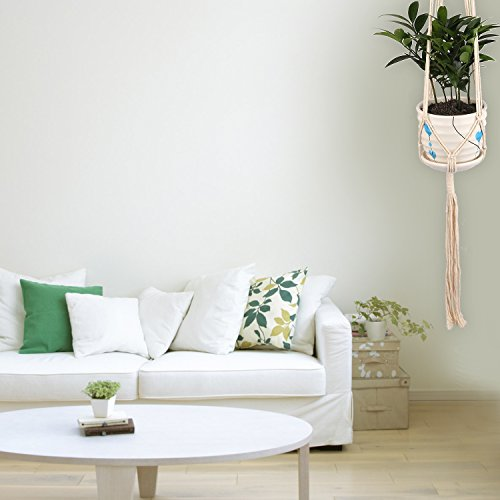 Hanging Planter – HUMUTU Macrame Plant Hanger for Indoor Plants, Large Hanging Plant Holder Bohemian décor for Home and Balcony 45 Inch