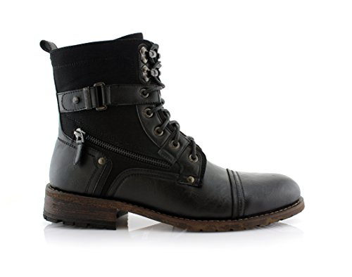 Polar Fox MPX808585 Mens Combat Ankle Boots Antique Finsh
