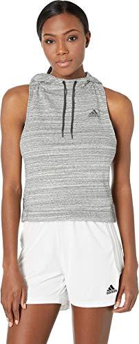 (adidas Women's Sport 2 Street Hood Tank Top White Melange/Grey Six)