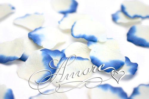 1000-Wedding-Silk-Rose-Petals-Laguna-Light-ivory-and-Royal-Blue-2-inch-Wide