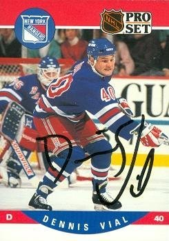 Autograph Warehouse 68174 Dennis Vial Autographed Hockey ...