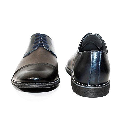 PeppeShoes Modello Masorro Handgemachtes Italienisch Leder Herren Grau  Oxfords Abendschuhe Schnürhalbschuhe Rindsleder Weiches Leder Schnüren -  woodoos.de