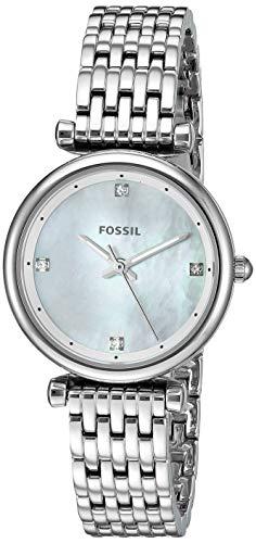 Fossil Women s Mini Carlie Stainless Steel Dress Quartz Watch