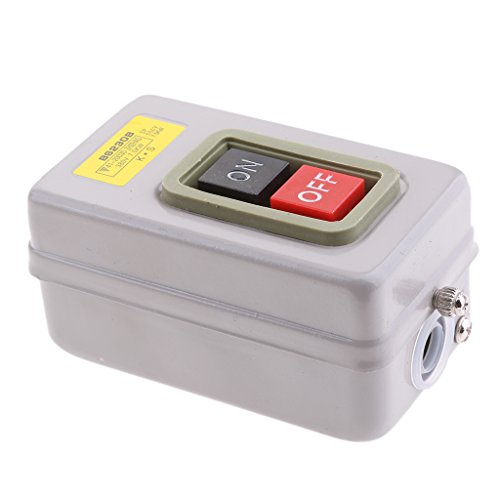 Jili Online BS230B 3P 380V 3.7KW Self Lock On OFF Power Push Button Control Switch Station For Machine Tool
