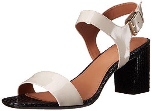 Calvin Klein Cimi Bloque de la sandalia de tacón Soft White