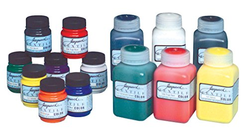 Jacquard Non-Toxic Professional Quality Artists Textile Paint Set, 2.25 oz Jar, Assorted Color, Set of 8