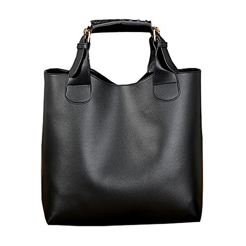 Messenger Shoulder Casual Totes Black Bag Hobos Handbags Retro Womens FTSUCQ Satchels xqwUff