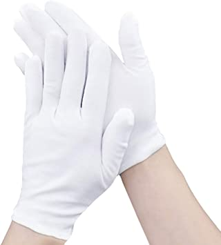 3 PAIRS 100/% COTTON SAFETY GLOVES  MOISTURISING HEALTH PROFESSIONAL
