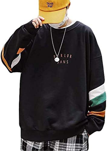 メンズ トレーナー カットソー 長袖 トップス カジュアル シンプル ゆったり 大きいサイズ ビックシルエット クルーネック