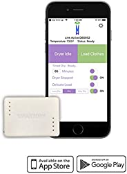 SmartDry Wireless Laundry Sensor and App, iOS and Android Mobile Devices. Compatible with Alexa. Smart Dry Not