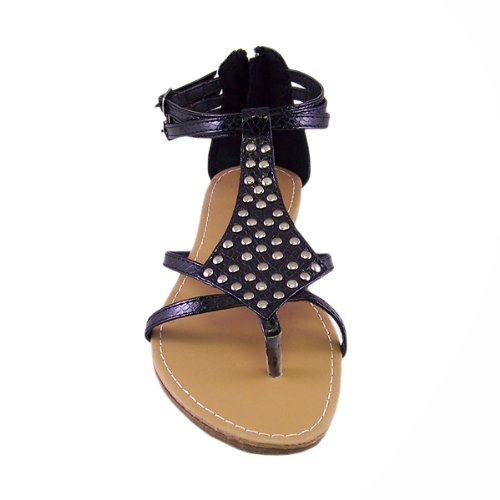 Blancho Womens Locust Stud-embellished T-strap Sandal