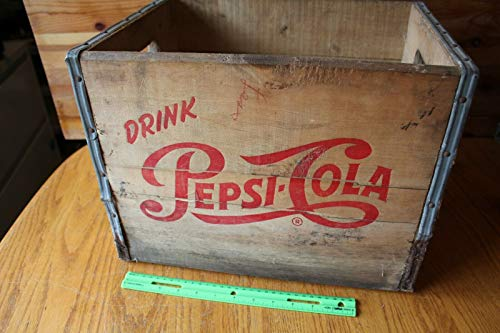 (Pepsi Cola Soda Bottle Crate wooden Vintage Mohawk Beverages Pittsfield Mass Pop)