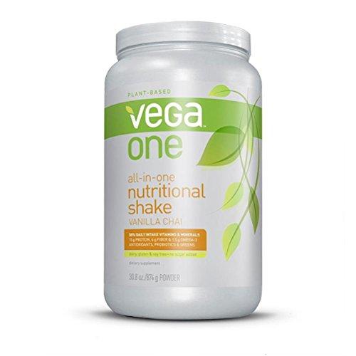 Vega One All-in-One Nutritional Shake, Vanilla Chai, Large Tub, 30.8oz (Dv All)