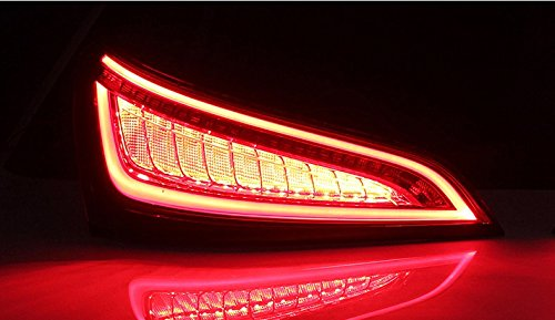 GOWE Car Styling for Audi Q5 2009-2015 LED Tail Lamp rear trunk lamp cover drl+signal+brake+reverse Dynamic steering taillight 1