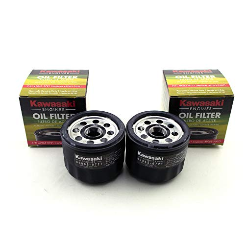 Kawasaki 49065-7007 Oil Filter (2 Pack) (Best Oil For Kawasaki Lawn Mower Engine)
