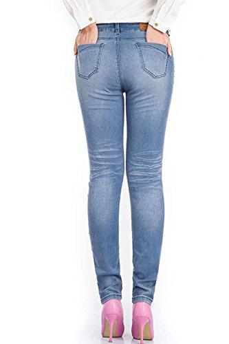 Blu Alto Magro Juniors Donne Elasticizzati Jeans Simgahuva Jegging w0TPxEqq
