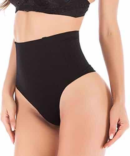 3710d6155 DODOING Women Body Shaper Thong Highwaisted Waist Cincher Girdles Shapewear  Panties Briefs