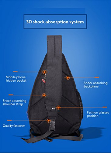 Crossbody messenger theft handbags Black men travel GOWOLD waterproof Summer shoulder short package hot small Swiss leisure Black anti Color chest mobile Large f4qxx0FAw