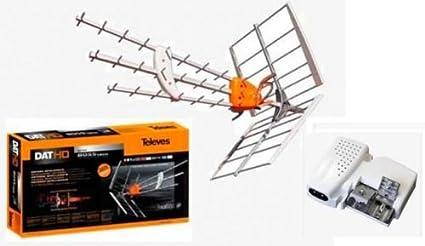 Antena Televes DAB LTE + alimentador + 25 mtrs cable + conectores F