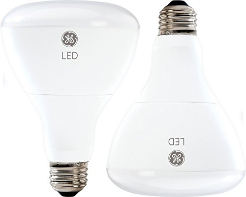 GE Lighting 21907 Energy-Smart LED 10-watt (65-watt replacement), 700-Lumen R30 Flood Bulb with Medium Base, Soft White, 2-Pack