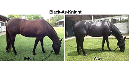 Black-As-Knight Coat Enhancer for Blacks and Bay Horses 7 LBS by Black-As-Knight (Image #2)