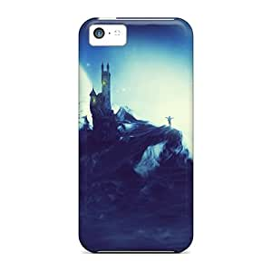 Hot Tpu Cover Case For Iphone/ 5c Case Cover Skin - Moon Castle