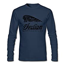 Indian Chief Motorcycles Men Long Sleeve O-neck T-Shirt