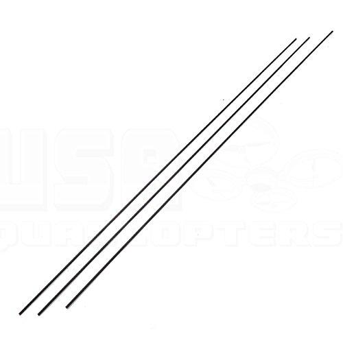 3pcs 2mm Carbon Fiber Rod 500mm Length Solid Lightweight Spar Support Pultruded Pultruded Carbon