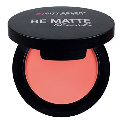 CITY COLOR COSMETICS Be Matte Blush | Blendable Mineral Makeup Powder (Fresh Melon) by City Color Cosmetics