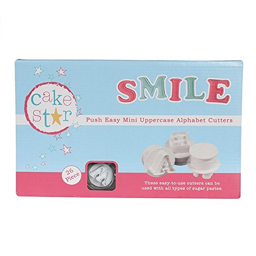 - Cake Star Sugarcraft Push Easy Mini Icing Cutters Uppercase Alphabet Letters Set