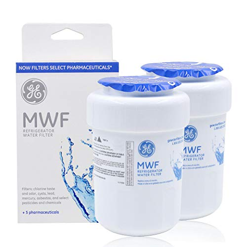 MWF Refrigerator Water Filter Replacement for MWF, MWFA, MWFP, GWF, GWFA, Kenmore 9991, 46-9991, 469991, Pack of 2 (Refrigerator Ge Filter Mwfp Water)