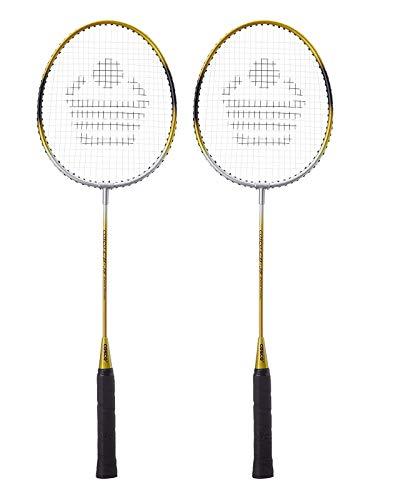 Cosco CB85 Strung Badminton RacquetYellow  amp; Silver Pack of: 2, 190 g