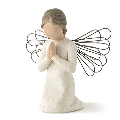 Figure Praying Angel - Willow Tree Angel of Prayer, sculpted hand-painted figure