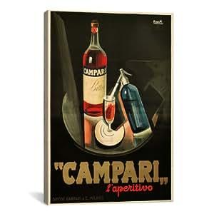 Amazon.com: icanvasart Aperitivo clásico Publicidad Cartel ...