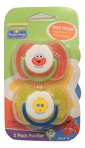 (Sesame Beginnings Pacifier 2 Pack (6-12 months))