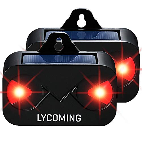 Lycoming 2 Pack Skunk Repellent Solar Predator Light Raccoon Deer Repellent Devices for Nighttime Animals Coyote Deterrent with Strobe Lights for Chickens