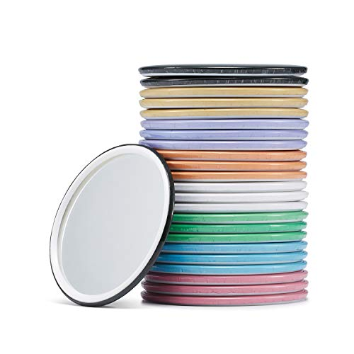 (Compact Mirror Bulk Round Makeup Glass Mirror for Purse Great Gift 2.5 Inch 8 Colors Pack of 24)