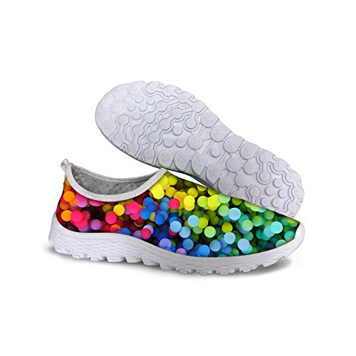 Per Te Disegni Elegante Stampa A Pois Donna Slip On Mesh Trail Running Shoes Multi 6