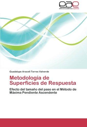 Descargar Libro Metodologia De Superficies De Respuesta Torres Valverde Guadalupe Araceli