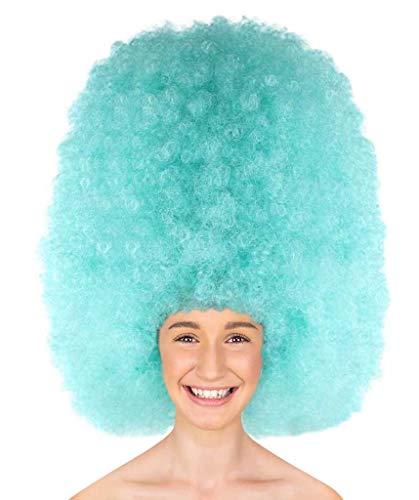 light blue afro wig - 3