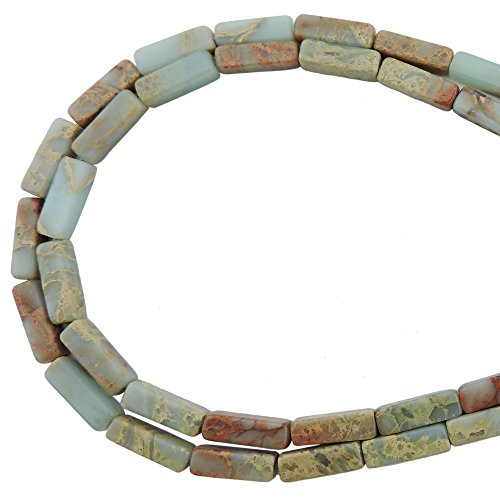 COIRIS 1 Strand 13x4MM Natural Rectangle Tube Shape Stone Loose Beads Imperial Jasper for Jewelry Making DIY Design -