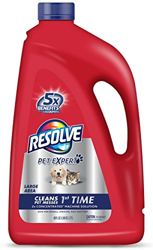 UPC 019200826105, Resolve Pet Carpet Steam Cleaner Solution, 60 fl oz Bottle, 2X Concentrate