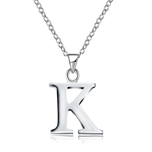 Kalapure Sterling Silver Plated Letters Alphabet Personalized Charm
