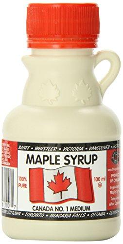 Amazon Lightning Deal 53% claimed: L B Maple Treat 300ml Plastic Jug Flag label L B Maple Treat Canada #1 Medium Maple Syrup 100ml x 3