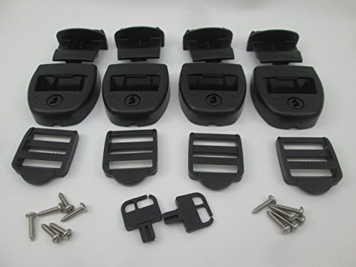 4X Spa Hot Tub Cover Latch Strap Repair Kit & Key Hot Spring Caldera Video How To (Down Tie Cover Spa)