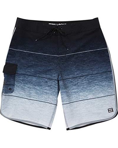 Billabong Men's 73 Stripe Pro Boardshort, Charcoal, 34 -